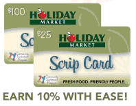 Holiday Market Scrip Cards