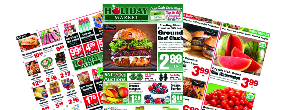 Stacks of coupons and specials